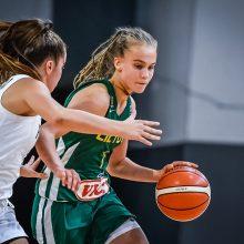 Lyderė: J.V.Jocytė svariai prisidėjo prie Lietuvos jaunučių merginų rinktinės sidabrinio žygio Europos čempionate.