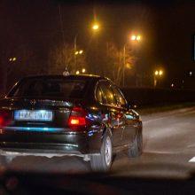 Naktį Klaipėdoje – nelegalių taksi šou