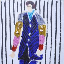 """Mamaamma"", 2 x 27 cm, aliejus ant drobės, 2018;"
