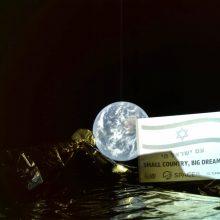 Izraelio kosminis aparatas ruošiasi nusileisti ant Mėnulio