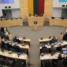 Bus šaukiama neeilinė Seimo sesija, darbotvarkėje – aplinkosaugos klausimai