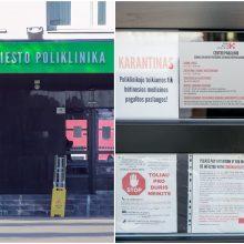 Kauno miesto poliklinikos gydytojai – priešakinėse kovos su koronavirusu gretose