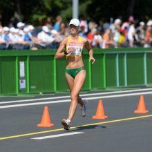 Bėgikė R. Kergytė-Dauskurdienė buvo greičiausia Liepojos pusmaratonyje