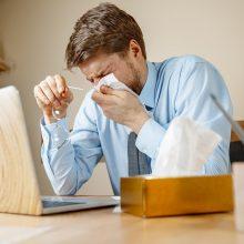 Sergamumas gripu Lietuvoje toliau mažėja