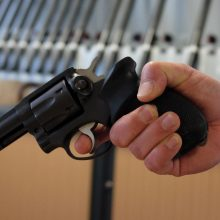 Palangoje tvarkydama butą moteris krosnyje rado revolverį