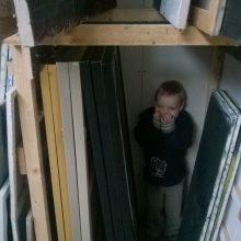 Atradimai: mažasis Sirputis savo talentų dar ieško, bet mamos kūrybinės studijos jį labai vilioja.
