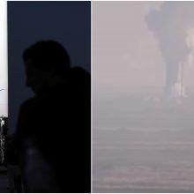 """""""SpaceX"""" eksperimentinis erdvėlaivis sprogo atliekant bandymus"""