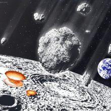 Mokslininkai: prieš 800 mln. metų Žemę ir Mėnulį bombardavo galingas meteoritų lietus