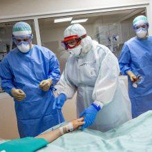 Dėl koronaviruso ligoninėse gydomi 64 pacientai, reanimacijose – trys
