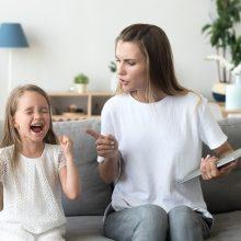 Ar emocijos auklėjant vaikus visada padeda?