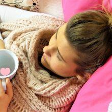 Sergamumas gripu bei peršalimo ligomis ir toliau mažėja