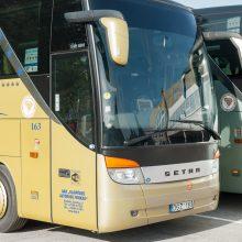 Kelionei į Vilnių liko tik Klaipėdos autobusai