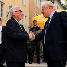 """B. Johnsonas ir J. C. Junckeris telefonu tarėsi, kaip pasiekti """"Brexit"""" susitarimą"""
