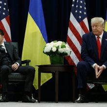 V. Zelenskis sako nežinantis, kodėl buvo įšaldyta JAV parama