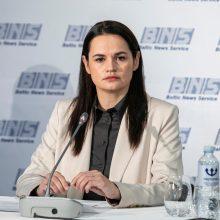 A. Cichanouskaja: Baltarusijoje būtina surengti pakartotinius prezidento rinkimus