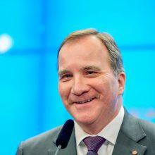 Švedijos socialdemokratų premjeras S. Lofvenas paskirtas antrai kadencijai