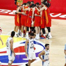 Argentina neturėjo jokių šansų: Ispanijos krepšininkai – pasaulio čempionai