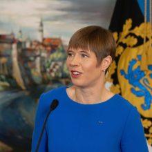 Estijos prezidentė norėtų per susitikimą su V. Putinu pradėti dialogą su Rusija