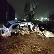 Sunkiai suvokiama BMW avarija: spėliojama, ar vairuotojas buvo girtas