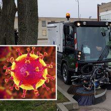 Uostamiestyje – daugiau švaros: dezinfekuos gatves, šaligatvius