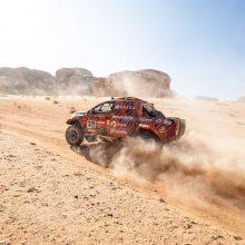 Devintojo greičio ruožo finišą pasiekęs A. Juknevičius: Dakaras tęsiasi