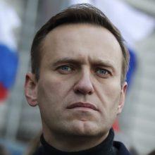 """Rusijos policija pradėjo pirminį """"patikrinimą"""" dėl A. Navalno"""