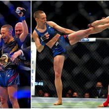 Neįtikėtina: R. Namajunas įspūdingu spyriu nokautavo kinę ir tapo UFC čempione