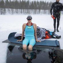 Suomė Johanna Nordblad nustatė laisvojo nardymo po ledu rekordą