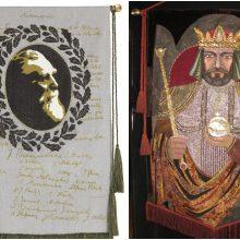 P. Domšaičio galerijoje – S. Kanaverskytės dekoratyvinės vėliavos