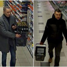 Alytaus policija ieško parduotuvės lankytojų: išėjo su prekėmis, už kurias nesumokėjo