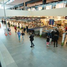Antradienį policija užfiksavo penkis karantino reikalavimų pažeidimus prekybos centruose
