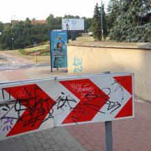 Klaipėdoje suniokoti kelio ženklai: ar nebus nukentėję per Jūros šventę?