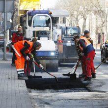Pietinėje Klaipėdos dalyje – gatvių remonto darbai
