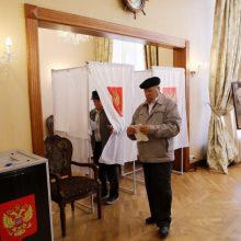 Lietuvos rusai balsuoja rinkimuose į Valstybės Dūmą