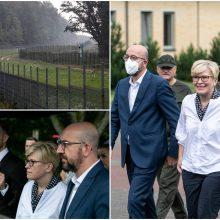 Pasienyje apsilankęs Ch. Michelis žada pagalbą, I. Šimonytė tikisi daugiau iš europinio sprendimo