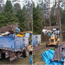 Miškininkai griebiasi už galvų: per tris mėnesius miške – 14 tonų šiukšlių