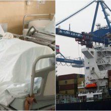 Klaipėdos uoste sužalotas darbininkas iš Ukrainos: vyrui lūžo dubens kaulai