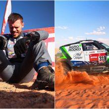 Lietuviai įpusėjo Dakarą vienas šalia kito 20-uke, vienam ekipažui jis baigėsi