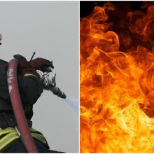 Skaudi nelaimė Joniškio rajone: per gaisrą žuvo žmogus
