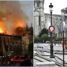 Prokuroras: gaisras Paryžiaus Dievo Motinos katedroje laikomas nelaimingu atsitikimu