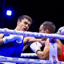 Pirma lietuvių pergalė pasaulio bokso čempionate – laimėjo pakilęs iš nokdauno