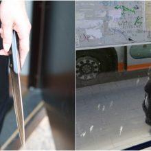 Incidentas stotelėje Klaipėdoje: mergina grasindama peiliu reikalavo senolės rankinės