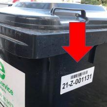 Nuskanavus inventorinį numerį bus žinoma, kiek kartų ištuštintas konteineris.