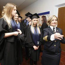 Uostamiestyje – dar viena diplomuotų jūrininkų karta