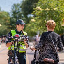 Palangoje – ypatingas policijos dėmesys dviratininkų eismui