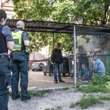 Klaipėdos centre esančio kiemo siaubas – benamiai