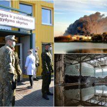 Po gaisro Alytuje specialistų rekomendacijos: likite namuose arba išvykite iš miesto