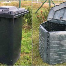 Žaliosioms atliekoms rūšiuoti bus dalinamos kompostinės ir konteineriai