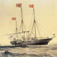 Anglijos karalienę suerzinęs prancūzų laivas