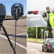 Pristatyti nauji greičio matuokliai: šalies keliuose ženklais apie juos neperspės